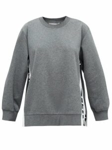 Stella Mccartney - Logo-jacquard Cotton Sweatshirt - Womens - Grey