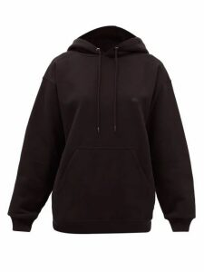 Balenciaga - Bb-embroidered Cotton Hooded Sweatshirt - Womens - Black