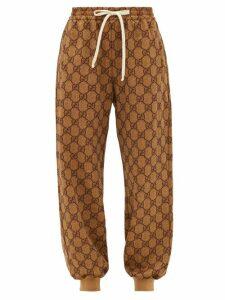 Gucci - GG-diamond Jacquard Track Pants - Womens - Beige Multi