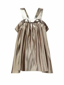 Rochas - Metallic-effect Silk-blend Trapeze Top - Womens - Silver