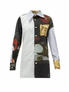 Vivienne Westwood - Lottie Bosschaert-print Oversized Cotton Shirt - Womens - Black Multi