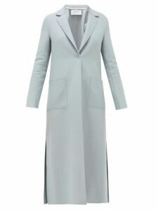 Harris Wharf London - Side-split Single-breasted Felted-wool Coat - Womens - Light Blue