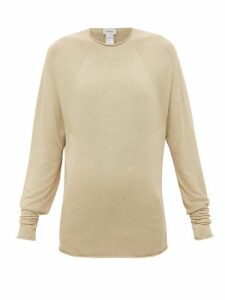 Lemaire - Rolled-edge Jersey Sweater - Womens - Beige