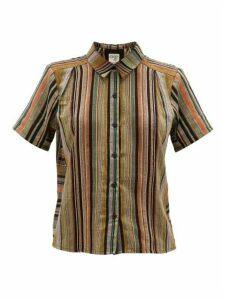 Ace & Jig - Winnie Short-sleeved Striped-cotton Shirt - Womens - Black Multi