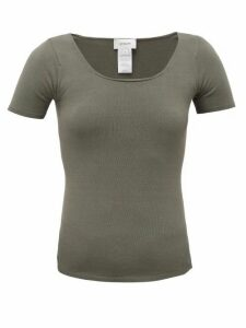 Lemaire - Seamless Stretch-jersey T-shirt - Womens - Khaki