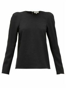 Tibi - Chalky Padded-shoulder Jersey T-shirt - Womens - Black