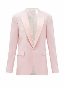 Pallas X Claire Thomson-jonville - Georgia Single-breasted Wool-crepe Jacket - Womens - Light Pink