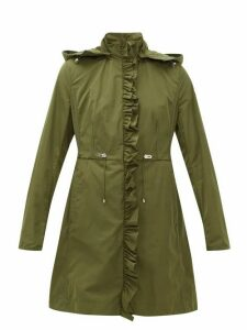 Moncler - Outremer Ruffled Shell Hooded Jacket - Womens - Khaki