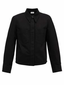 Lemaire - Garment-dyed Cotton-twill Overshirt - Womens - Black