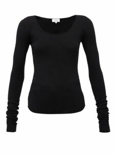 Lemaire - Scoop-neck Jersey Top - Womens - Black