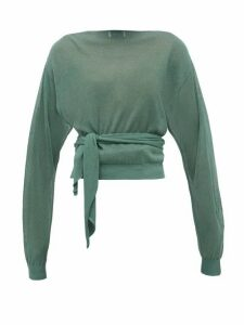 Lemaire - Tie-waist Wrap Sweater - Womens - Green