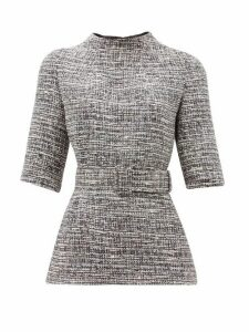 Goat - Jasper Belted Tweed Top - Womens - Navy