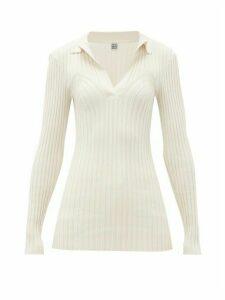 Totême - Arradon Ribbed-knit Rayon-blend Top - Womens - Ivory