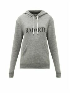 Rodarte - Rodarte-print Fleeceback-jersey Hooded Sweatshirt - Womens - Grey