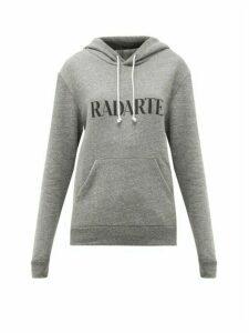 Rodarte - Rodarte-print Fleeceback-jersey Hooded Sweatshirt - Womens - Grey