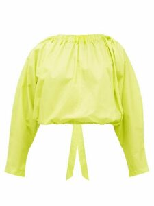 Molly Goddard - Bonnie Open-back Cotton Blouse - Womens - Green