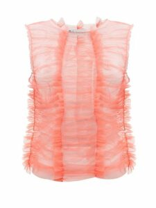 Molly Goddard - Joly Panelled-tulle Top - Womens - Pink