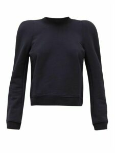 Tibi - Loopback Cotton-blend Jersey Sweatshirt - Womens - Navy