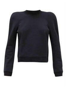 Tibi - Loopback Cotton-blend Jersey Sweatshirt - Womens - Navy