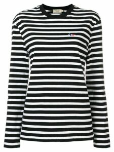 Maison Kitsuné striped longsleeved T-shirt - Black