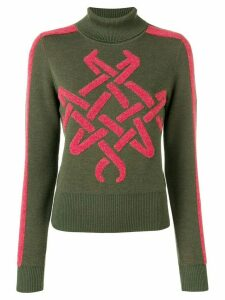 Mr & Mrs Italy embroidered roll neck jumper - Green