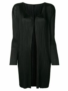 Pleats Please Issey Miyake longline open-front cardigan - Black