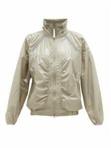 Adidas By Stella Mccartney - Zipped Shell Windbreaker Jacket - Womens - Green