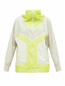 Adidas By Stella Mccartney - Half-zip Technical Running Jacket - Womens - Yellow Multi