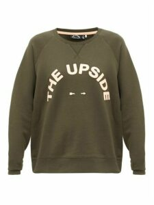 The Upside - Bondi Logo-print Cotton Sweatshirt - Womens - Dark Green