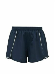 The Upside - Blazen Reflective-stripe Training Shorts - Womens - Navy