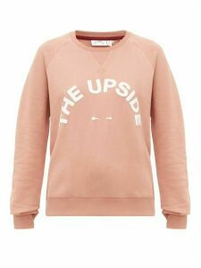 The Upside - Bondi Logo-print Cotton-jersey Sweater - Womens - Pink
