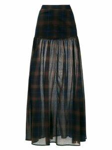 Andrea Marques check long skirt - Multicolour