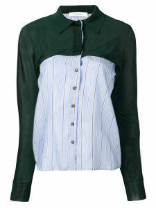 Cédric Charlier panelled shirt - Green