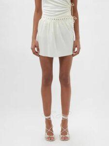 Miu Miu - Star-print Drawstring Pouch - Womens - Red White