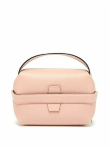 Valextra - Tric Trac Grained-leather Bag - Womens - Light Pink