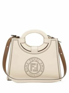 Fendi - Runaway Perforated-logo Leather Bag - Womens - White