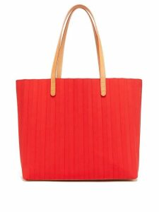 Mansur Gavriel - Pleated Waxed Canvas Tote Bag - Womens - Red