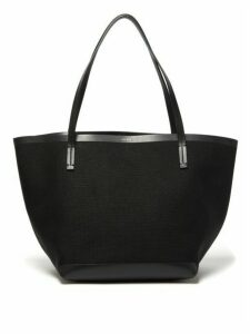 The Row - Park Leather-trimmed Canvas Tote Bag - Womens - Black