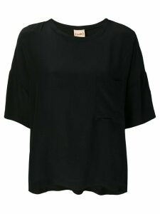 Nude loose fit top - Black