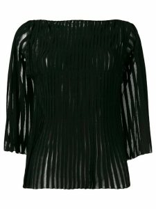 Pierantoniogaspari appliqué stripe top - Black