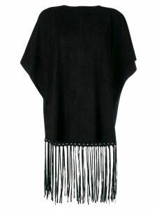 RedValentino fringe detailed blouse - Black