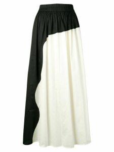 Mara Hoffman monochrome high rise maxi skirt - Black