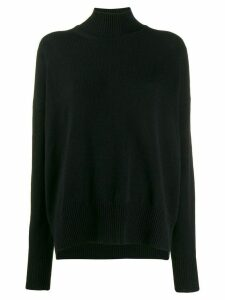 Jil Sander turtleneck jumper - Black