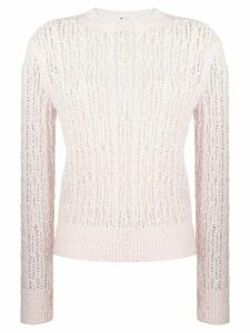Thom Browne 4-Bar Open Stitch Light Pink Pullover