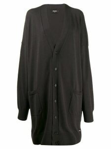 Dsquared2 V-neck long cardigan - Grey