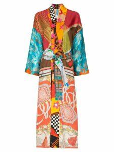 Rianna + Nina mix print silk kimono robe - MULTICOLOURED