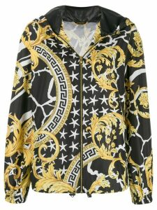 Versace printed hooded jacket - Black