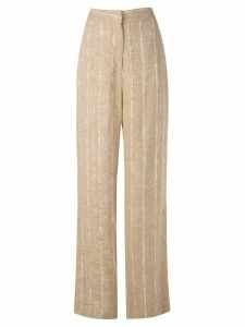 Voz raw wide trousers - Brown
