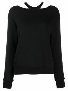 Unravel loose-fit cut-out jumper - Black