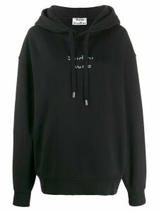 Acne Studios cut out logo hoodie - Black